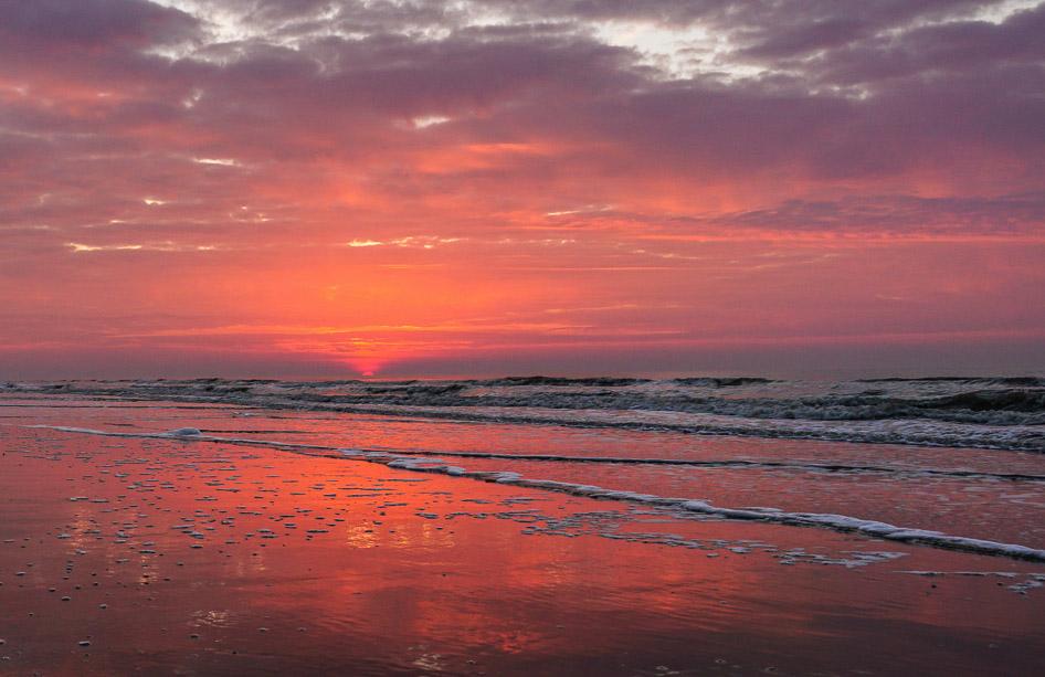 Residence Opduin woonoase zonsondergang strand noordwijk